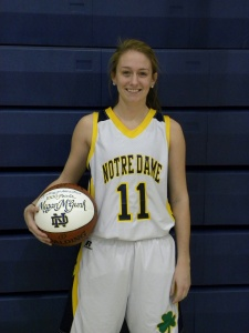 Academy of Notre Dame's Megan McGurk is the newest member of Delaware County's 1,000-point club. McGurk poured in 33 points vs. Spring-Ford Saturday,