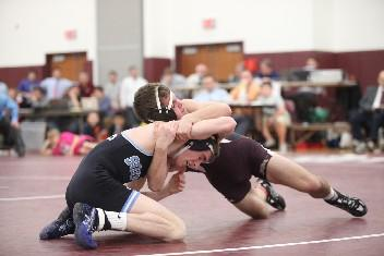 Garnet Valley All-Delco Michael Marino, seen here in the championship match of the 2011 Southeast Regional, remains atop the 126-pound rankings. SPECIAL TO THE TIMES/NATE HECKENBERGER