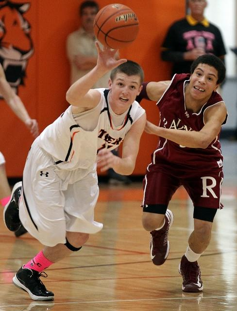 Marple Newtown's Jake McGee swipes a pass in the Tigers' surprising rout of Radnor.TIMES STAFF/ROBERT J. GURECKI
