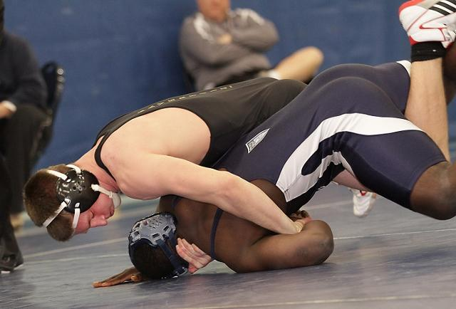 Reigning Daily Times Wrestler of the Year L.J. Barlow of The Haverford School, top, is still No. 1 in the 195-pound weight class. TIMES STAFF/ROBERT J. GURECKI
