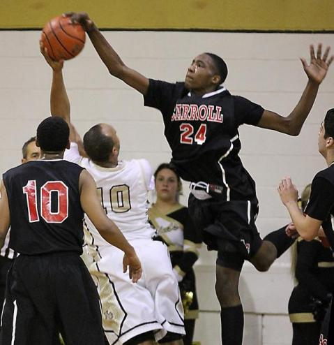 Archbishop Carroll's Derrick Jones and the Patriots stay put at No. 4 in the latest Class AAA polls. TIMES STAFF/ROBERT J. GURECKI