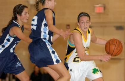 Notre Dame's Megan McGurk was selected to the All-Inter-Ac League team for the fourth straight season.