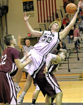 Strath Haven's Kevin Sherry had the winning points in a 47-45 overtime win over West Chester Henderson in the opening round of the District One Class AAAA playoffs Friday night. TIMES STAFF/ROBERT J. GURECKI