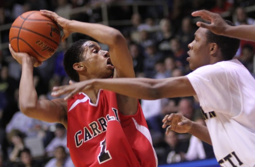 Archbishop Carroll All-Delco Yosef Yacob, seen here during the 2012 Catholic League final, is the newest member of the 1,000-point club. TIMES FILE