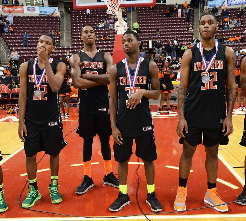 Chester's James Kirksey, Rondae Jefferson, Mike Williams and Richard Granberry couldn't have imagined a 63-47 loss to Lower Merion in the state final.TIMES STAFF/ERIC HARTLINE