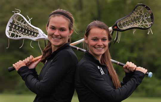 If Strath Haven wants to make it back to the state title game, cousins Kirsten Wilhelmsen, left, and Morgan Glassford will undoubtedly have something to say about it. TIMES STAFF/ROBERT J. GURECKI