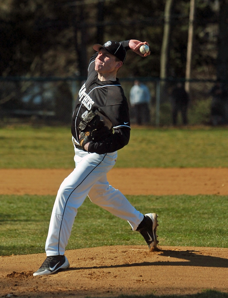 Strath Haven pitcher Donovan Davis threw six scoreless innings Tuesday in a 7-3 win over Radnor (Times Staff/JULIA WILKINSON)