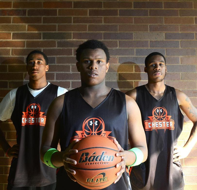 Chester's (from left) Rondae Jefferson, Darius Robinson and Richard Granberry all earned some type of all-state honors.TIMES STAFF/ERIC HARTLINE