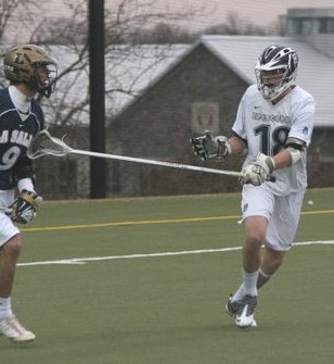 Episcopal Academy All-Delco Kevin Gayhardt, right, put forth a dominating defensive performance to spearhead an 8-2 thumping of La Salle Tuesday. PHOTO COURTESY OF PHILLYLACROSSE.COM