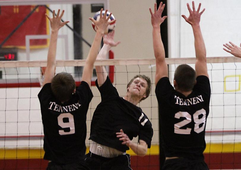 Haverford's Reilly Kagen, seen here spiking the ball, is part of a Fords team trying to rekindle some old magic.  TIMES STAFF/ROBERT J. GURECKI