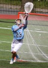 The Haverford School goalie Jake Landman, seen here as a junior, came up clutch in a 9-7 win over Radnor.  PHOTO COURTESY OF PHILLYLACROSSE.COM