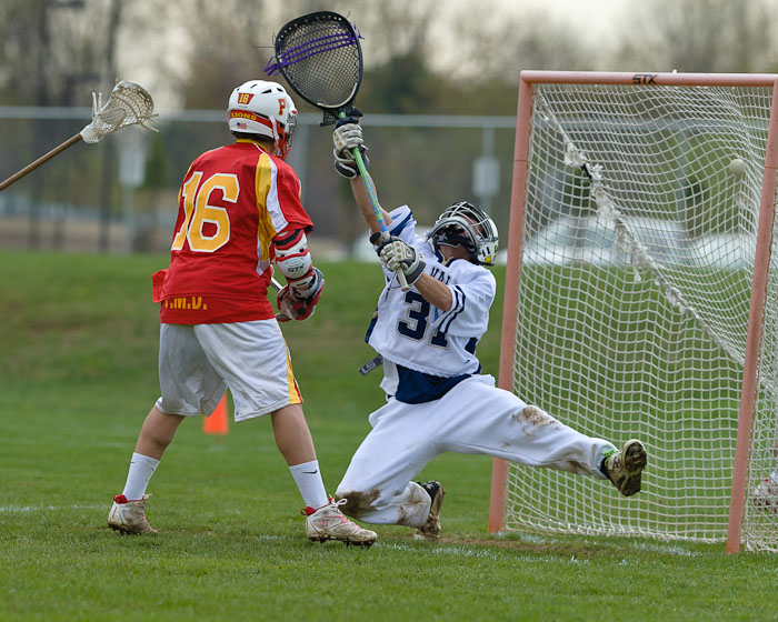 Penncrest's Will Manganiello, left, leads the county in points with 28. PHOTO COURTESY OF PENNCREST-LAX.COM.
