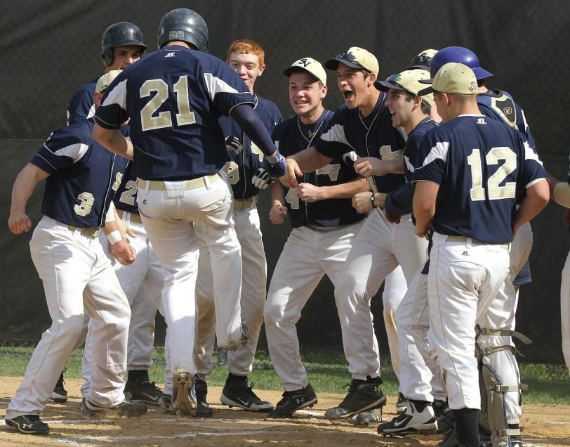 Antonio Pagano, 21, and Sun Valley didn't have much to celebrate after Pagano's first-inning home run in a 12-3 loss to Kennett.  TIMES STAFF/ROBERT J. GURECKI