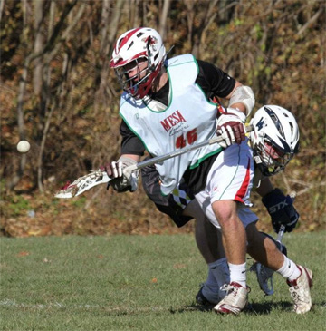 FOGO Zach Penfil, seen here on the summer circuit, is part of a Garnet Valley team that is a microcosm of the Central League.  PHOTO COURTESY OF PHILLYLACROSSE.COM