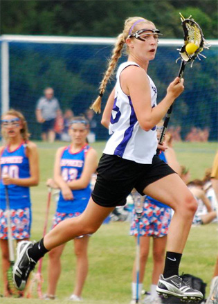 The Academy of Notre Dame's Delaney Tuite, seen here as a sophomore,  is the non-Central League Player of the Week. PHOTO COURTESY OF PHILLYLACROSSE.COM