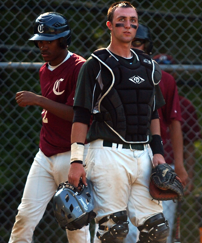Delco Christian catcher D.L. Browne is one of several returning starters who will be counted on by the Knights next season. (Times Staff / JULIA WILKINSON)