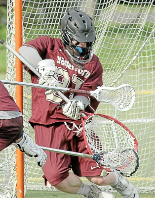 Alex DeMarco was superb in his first start at The Haverford School, an 11-6 win that derailed rival Episcopal Academy's Inter-Ac title hopes. TIMES STAFF/ROBERT J. GURECKI