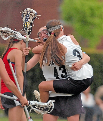 Will Strath Haven's Kristen Hansen and Morgan Glassford be celebrating in Hershey? TIMES STAFF/JULIA WILKINSON