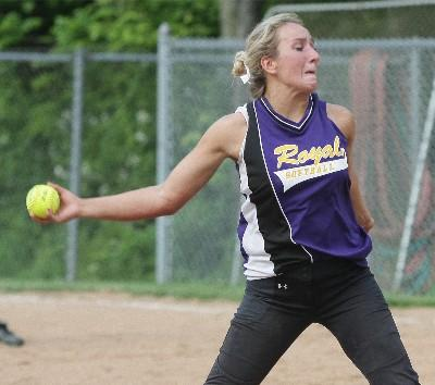 Upper Darby All-Delco Savannah Nierintz, seen here as a junior, helped the Royals split the Central League title with Haverford thanks a 3-2 win over the Fords. TIMES FILE ART