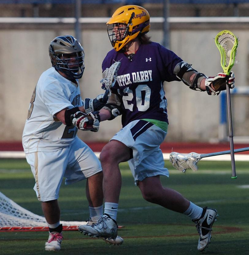 Upper Darby's Chris Stone, seen here in an earlier game this season, had five points to help the Royals to their first Central League win since 2010. TIMES STAFF/JULIA WILKINSON
