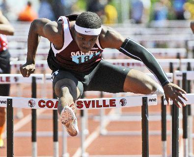 No state records for Garnet Valley All-Delco Wellington Zaza, seen here at the District One championships, but plenty of hardware. TIMES STAFF/ERIC HARTLINE