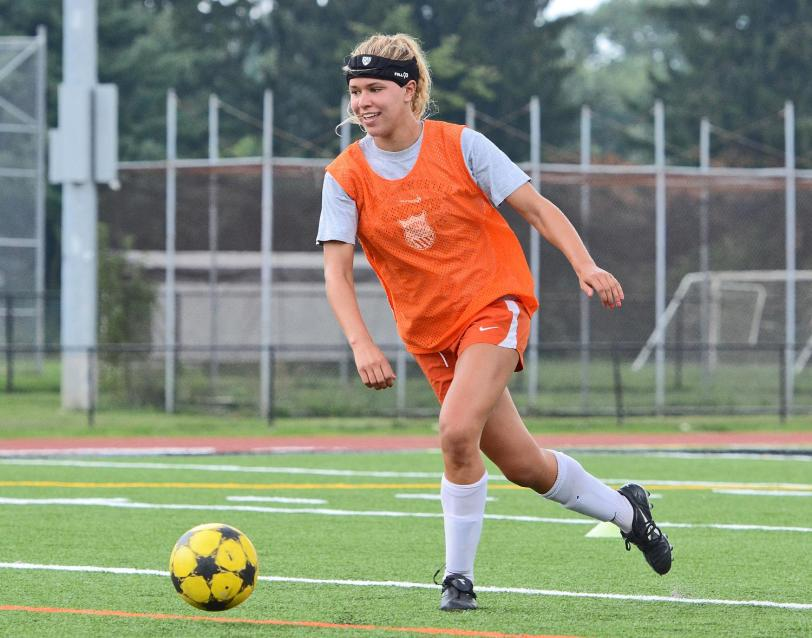 Strath Haven track and soccer All-Delco Allie Wilson is one of the multi-sport stars that has helped the Panthers dominate the Delco soccer scene. TIMES STAFF/ERIC HARTLINE