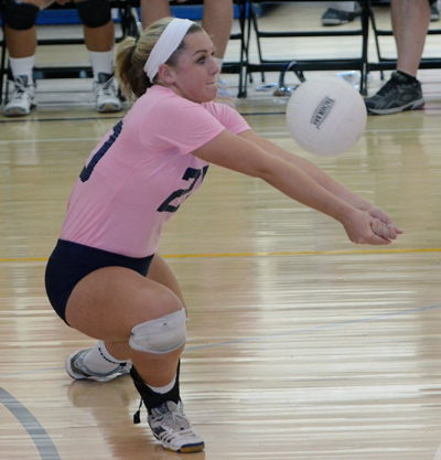 Cardinal O'Hara's Caitlin Fitz led the Lions to a 3-0 sweep of Notre Dame. TIMES STAFF/JULIA WILKINSON