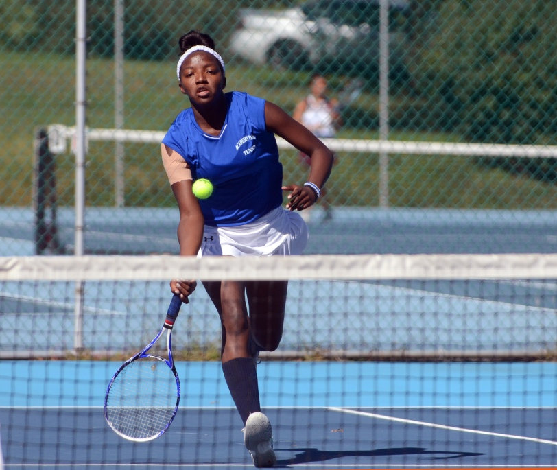 Academy Park's Courtney Jenkins claimed her fourth straight Del Val girls tennis singles championship. TIMES STAFF/JULIA WILKINSON