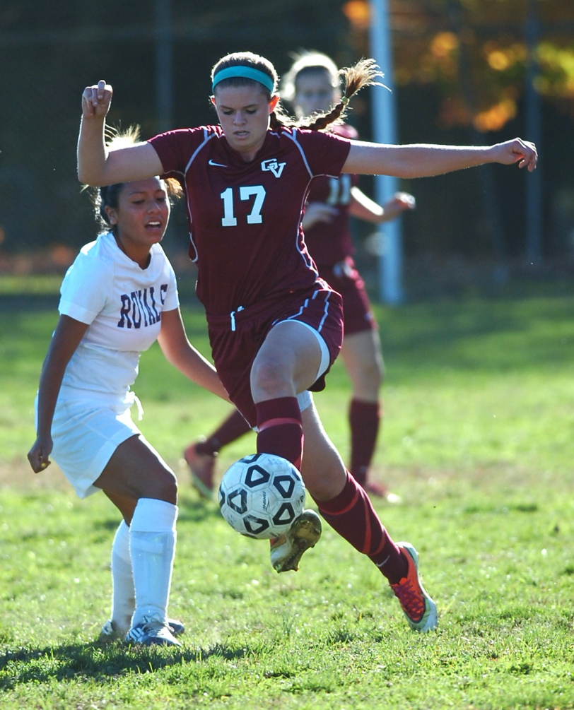 Haley Warden, here fending off Upper Darby's Nelly Aris, last Tuesday, has led Garnet Valley on a late-season surge that should move them into the District One playoffs. (Times Staff / JULIA WILKINSON)