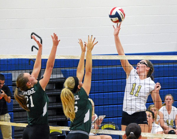 Sun Valley's Chelsea Jones led the Vanguards to a 3-0 sweep of Pennridge. TIMES STAFF/JULIA WILKINSON