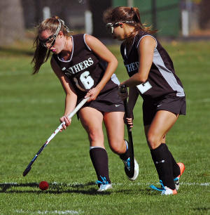 Katie Sherry and Alex Bonser lead Strath Haven into the Super 7.  TIMES STAFF/JULIA WILKINSON