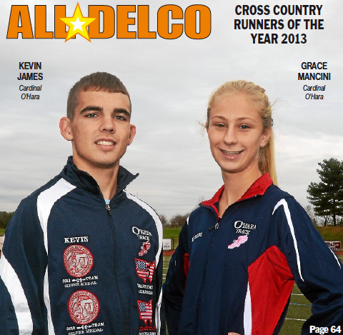 Cardinal O'Hara's Kevin James and Grace Mancini are the 2013 Daily Times Runners of the Year. TIMES STAFF/JULIA WILKINSON