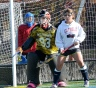 Archbishop Carroll goalie Kerri Mountz will need to be at her best if the Patriots want to beat Lancaster Mennonite. TIMES STAFF/ERIC HARTLINE