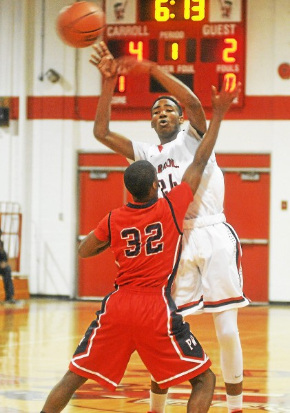All-Delco Derrick Jones, right, has helped Archbishop Carroll to a No. 1 state ranking. PHOTO COURTESY OF ADRIANNA HOFF