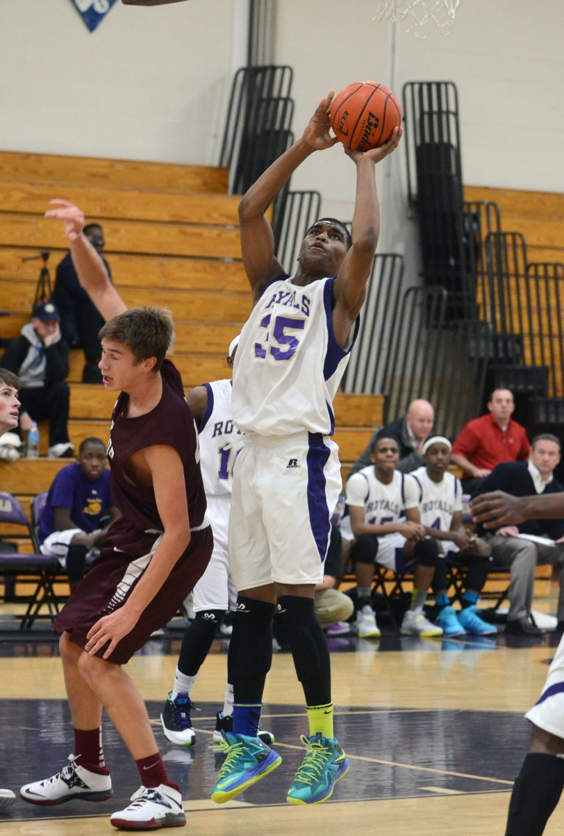Quadir Rice's putback helped Upper Darby to a 51-50 win over Radnor. TIMES STAFF/JULIA WILKINSON
