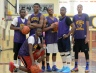 Upper Darby seniors Josh Akande, Beni Toure (kneeling), Quadir Rice, Demetrius Timmons, Corey Williams and Torey Green hope to have Upper Darby back in the state tournament. TIMES STAFF/JULIA WILKINSON
