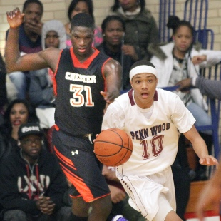 Addison Scott and Penn Wood ran away from Tyrell Sturdivant's Chester Thursday.  (Times Staff/ROBERT J. GURECKI)