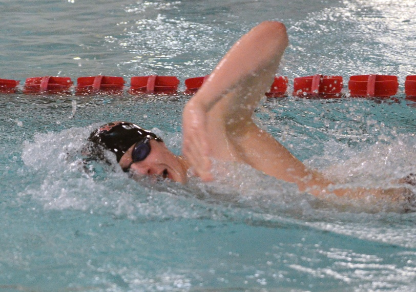 Radnor's Mitchell Gartland didn't have the best of swims at the Central League Championships. What does he have in store for the District One meet? (Times Staff / JULIA WILKINSON)