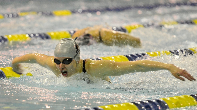 EA's McKenzie Street was very briefly a county-record holder in the 100 fly at Easterns. (Times Staff / ERIC HARTLINE)