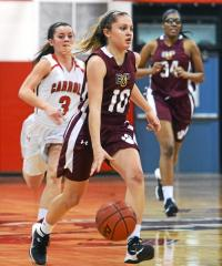 All-Delco Alyssa Monaghan leads Bonner-Prendergast into tonight's Catholic League semifinal game with Neumann-Goretti, the No. 1 team in the state.  (Times Staff / JULIA WILKINSON)