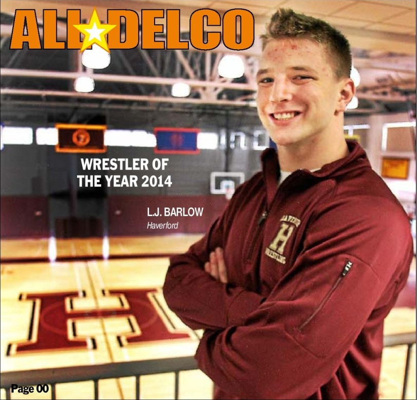 Haverford School junior All-Delco L.J. Barlow is the 2014 Daily Times Wrestler of the Year. (Times Staff/ROBERT J. GURECKI)