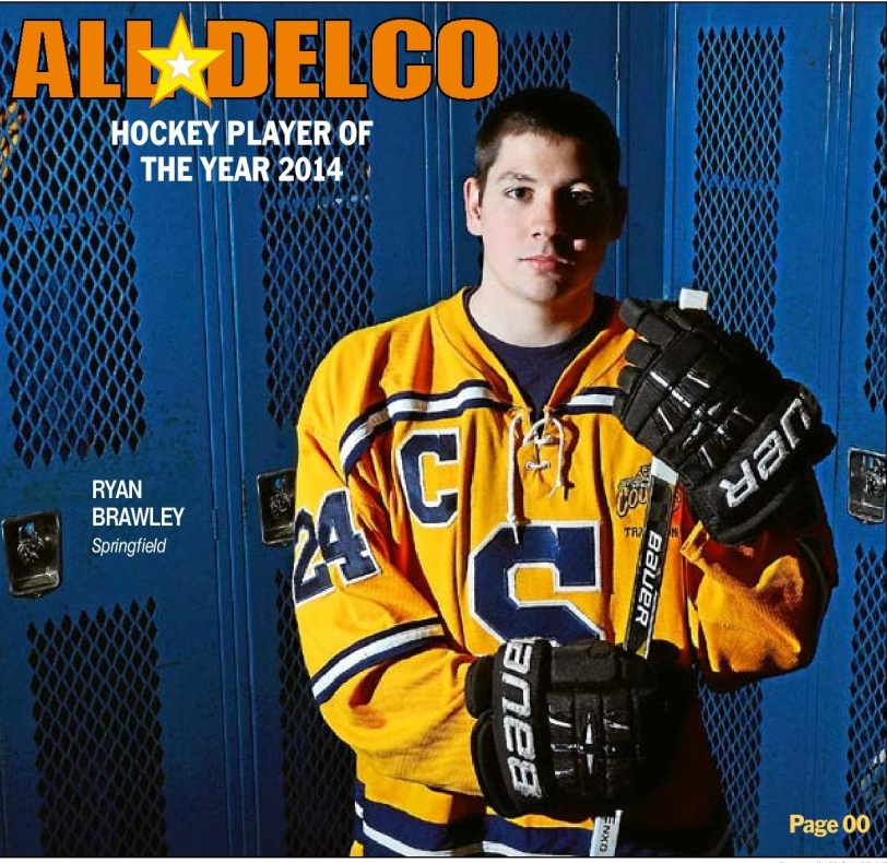 Springfield's Ryan Brawley is the 2013-14 Daily Times Hockey Player of the Year. (Times Staff/ERIC HARTLINE)