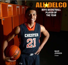 Chester's Mahir Johnson is the 2014 Daily Times Boys Basketball Player of the Year. (Times Staff/ERIC HARTLINE)