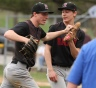 Sean Corelli, happy to be playing Carpenter Cup baseball. (Times Staff/ROBERT J. GURECKI)