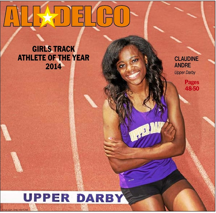 2014 Daily Times Girls Track and Field Athlete of the Year Claudine Andre. (Times Staff/ERIC HARTLINE)