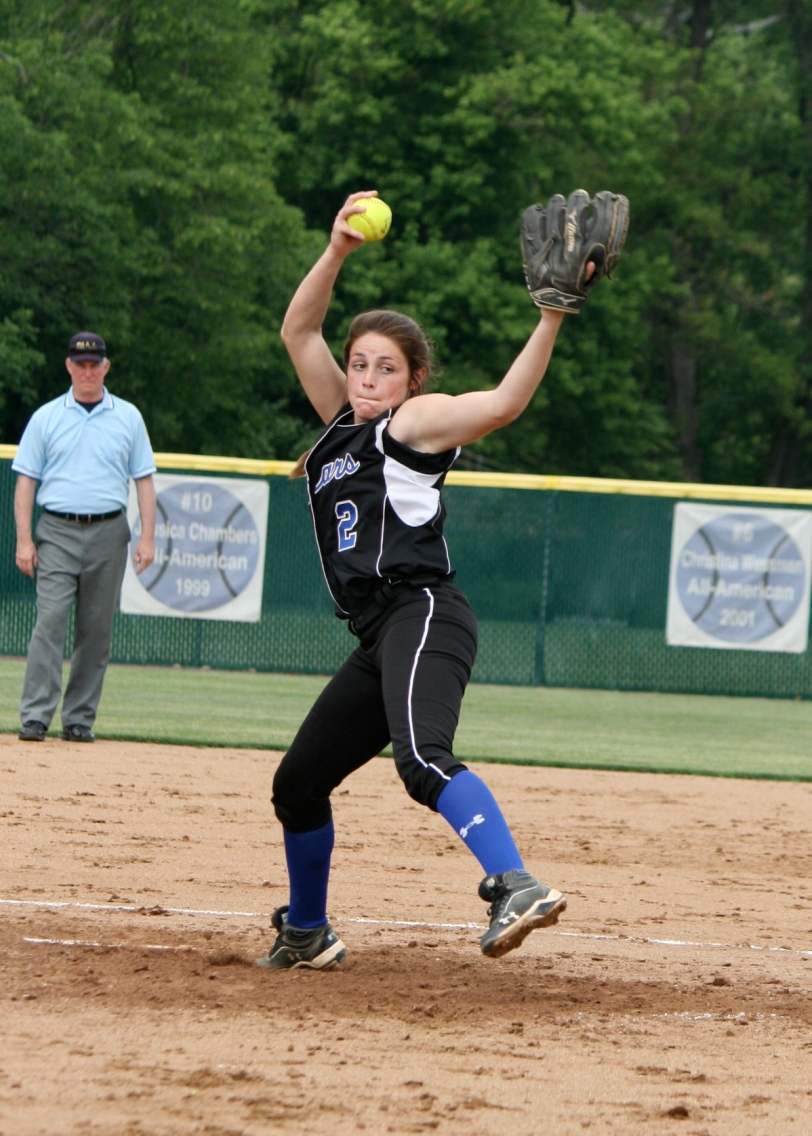 Junior pitcher and All-Delco Courtney Scarpato has been excellent during Springfield's run to the PIAA Class AAA final. (Photo courtesy of Springfield softball team).