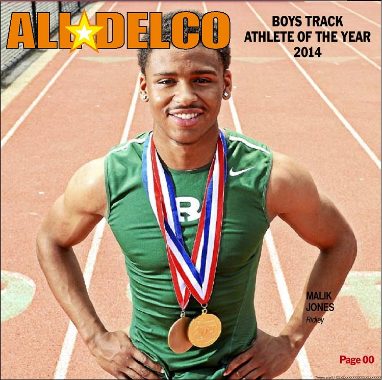2014 Daily Times Track and Field Athlete of the Year Malik Jones of Ridley. (Times Staff/ERIC HARTLINE)