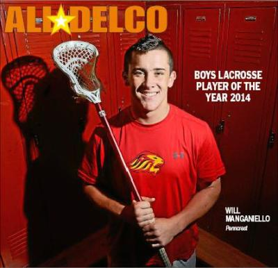2014 Daily Times Boys Lacrosse Player of the Year Will Manganiello of Penncrest.