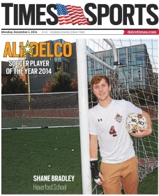 Haverford School defender Shane Bradley is the 2014 Daily Times Boys Soccer Player of the Year. (Times Staff/TOM KELLY IV)
