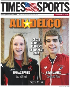 Sacred Heart's Emma Seifried and Cardinal O'Hara's Kevin James are the 2014 Cross Country Runners of the Year. (Times Staff/TOM KELLY IV)